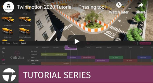 Twinmotion 2020 Tutorial - Phasing Tool