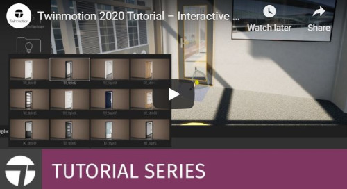 Twinmotion 2020 Tutorial - Interactive & Parametric Doors