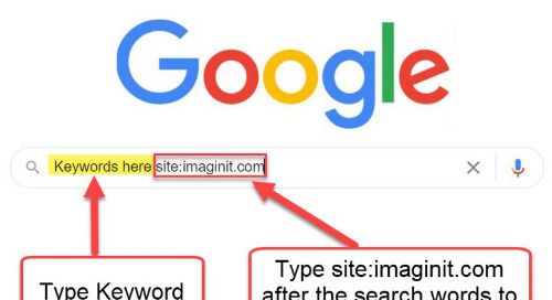 Use Google to search for IMAGINiT Blogs only