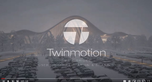 Twinmotion: Share items from the User Library with others