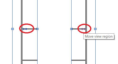 Revit: How to Move a Portion of a Split Cropped Region