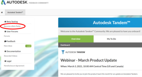 Register for Autodesk Tandem Community