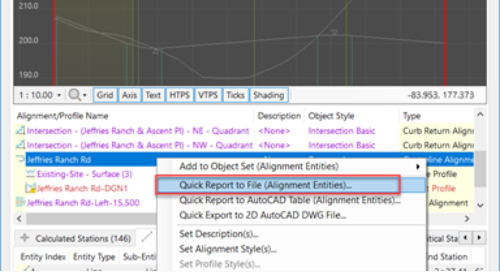 Project Explorer for Civil 3D - Part 3 Reports
