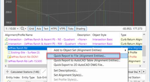 Project Explorer for Civil 3D - Part 3 Reports