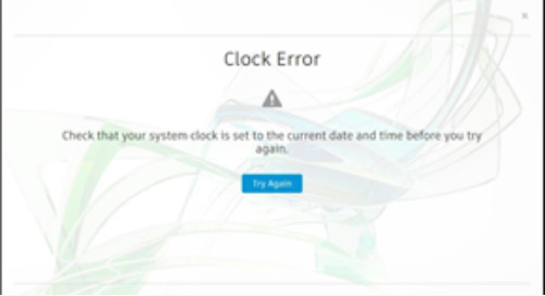 "Autodesk: ""Check that your system clock is set to the current date and time before you try again"""