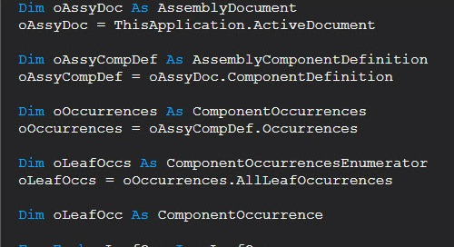 Modify Assembly Components with Automation