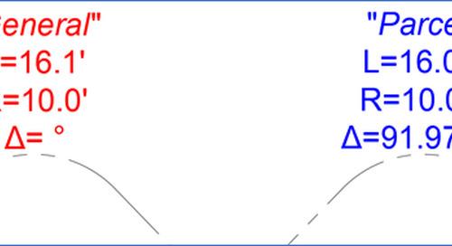 Civil 3D: Expressing Curve Delta (General vs Parcel)
