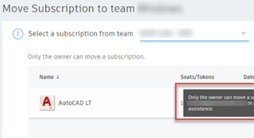 """User Management Error: """"Only the owner can move a subscription."""""""