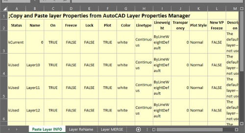 Leveraging Spreadsheets for AutoCAD Layer Scripts