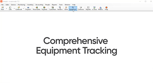 Equipment History Tracking