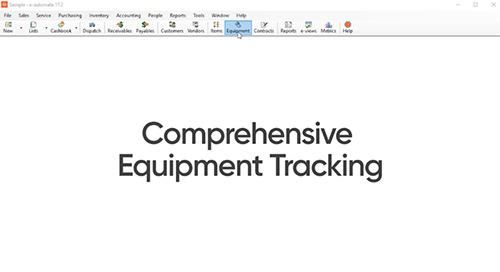 Equipment History Tracking