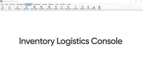 Inventory Logistics Console