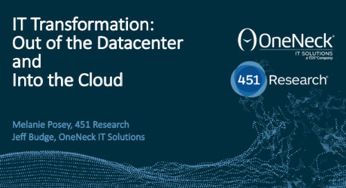 IT Transformation: Out of the data center and into the cloud
