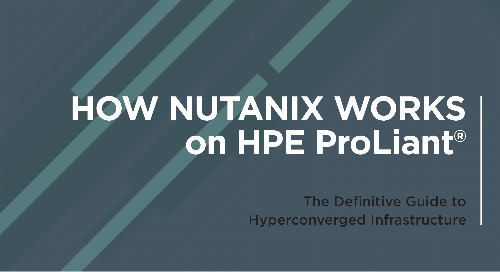 How Nutanix works on HPE Proliant
