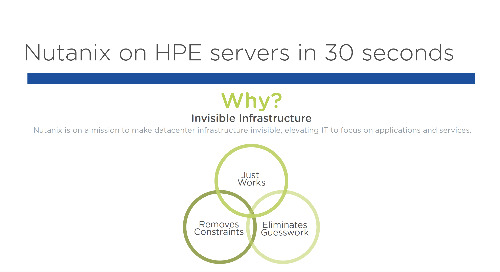 Nutanix on HPE Proliant in 30 seconds