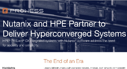 Nutanix and HPE Deliver Hyperconverged Systems