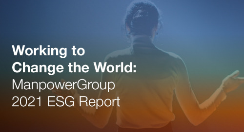 2021 ESG Report: Working to Change the World