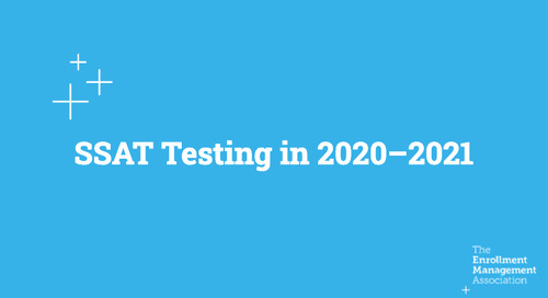 SSAT Testing in 2020-2021 [Recorded Webinar]