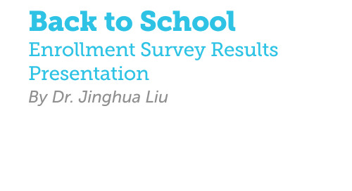 Back to School Enrollment Survey Results Deck