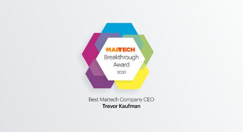 "Trevor Kaufman Wins ""Best MarTech Company CEO"""