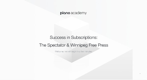 Success in Subscription- The Spectator & Winnipeg Free Press
