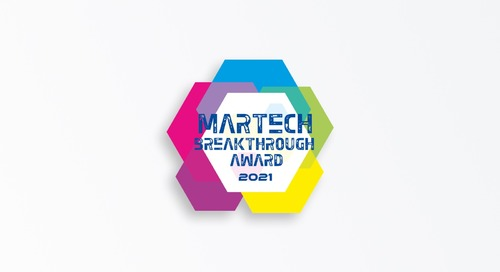 "Piano Named ""Best MarTech Startup"" in 2021 MarTech Breakthrough Awards Program"