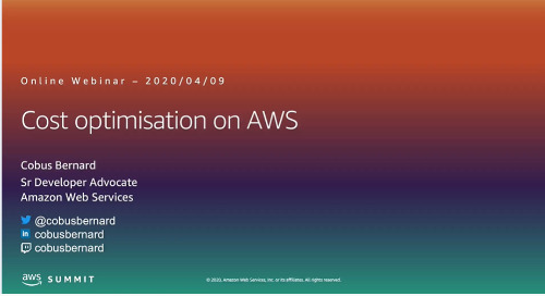 AWS Webinar - How to Optimise Costs on AWS