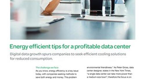 Energy efficient tips for a profitable data center