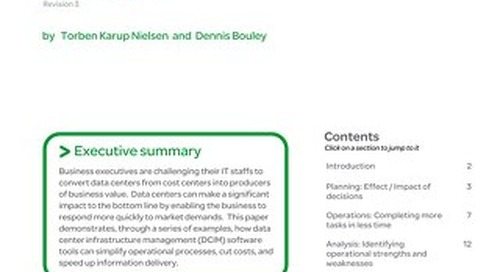 WP 107 - How Data Center Infrastructure Management Software Improves Planning and Cuts Operational Costs