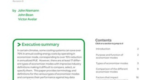 WP 132 - Economizer Modes of Data Center Cooling Systems