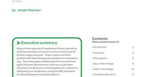 WP 18 - The Seven Types of Power Problems