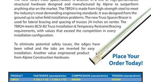 Construction Hardware TBR24 Truss Spacer / Bracer