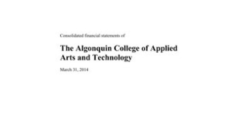 Algonquin-College-Audited-FS-March-31-2014