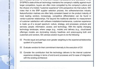 Industry Report from IDC
