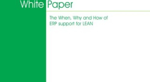 ERP Support for Lean