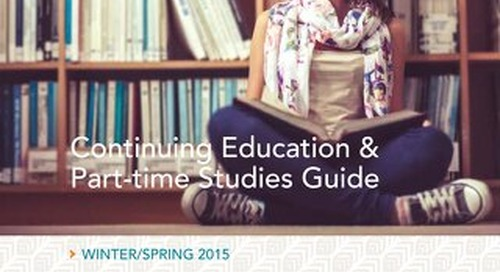 2015 Continuing Education and Part-time Studies Guide - Winter/Spring