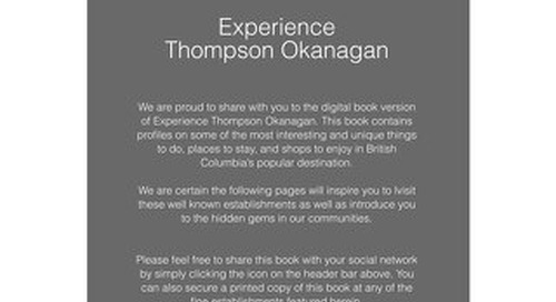 EXPERIENCE The Thompson Okanagan Book