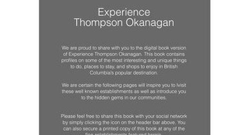 EXPERIENCE The Thompson Okanagan Book