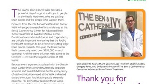 Seattle Brain Cancer Walk - Walk Talk - 2014 - Issue #2