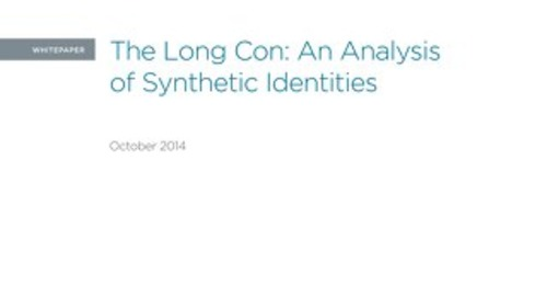 Synthetic Fraud White paper