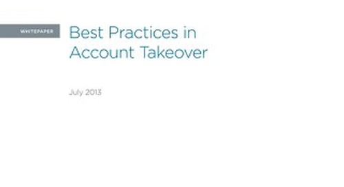 Best Practices in Account Takeover