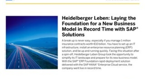 Lay the foundation for a new business model with SAP Rapid Deployment Solutions and SAP HANA Enterprise Cloud in record time