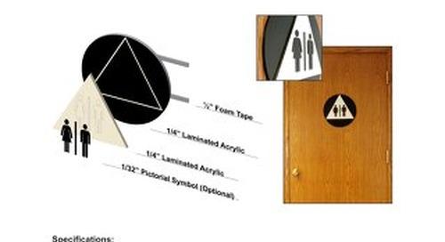 ADA Restroom Door Symbols