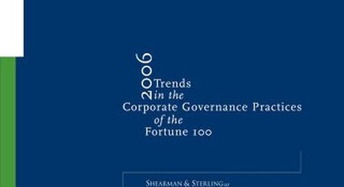 2006 Corporate Governance Survey