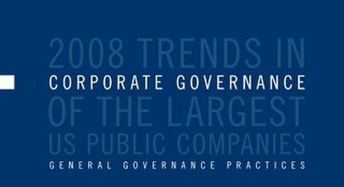 2008 Corporate Governance Survey