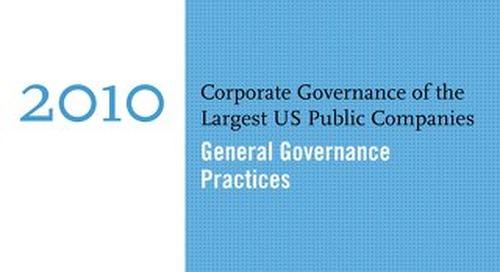 2010 General Governance Survey