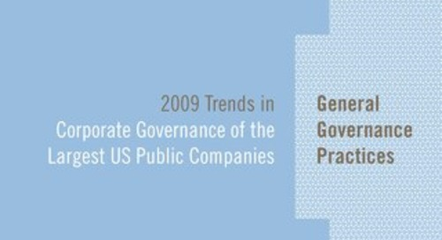 2009 Corporate Governance Survey