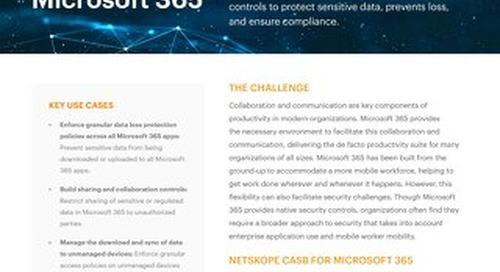 Netskope for Microsoft Office 365