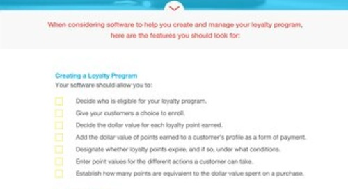 Buyer's Checklist: Loyalty Program Software