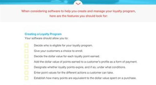 Buyer's Checklist: Loyalty Program Software